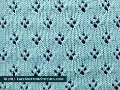 Lace Knitting. #16 Quatrefoil Eyelet Lace Stitch. Easy! Great for baby blanket