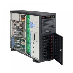 The Supermicro Medium Business Server is a Pedestal Chassis RPSU Server that can host between 1 to users. It features SATA Fixed Internal Drive Bays, two Intel Xeon 2011 SKT, two WD Enterprise Drives (RAID 1 for OS), RDIMM and Assembly & Testing Included. Drive Bay, Usb, Macbook Pro Case, Computer Case, Computer Accessories, Locker Storage, Cool Things To Buy, Business, Tower