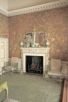 Nostell Priory, the state bedroom, 1771. Yorkshire, UK