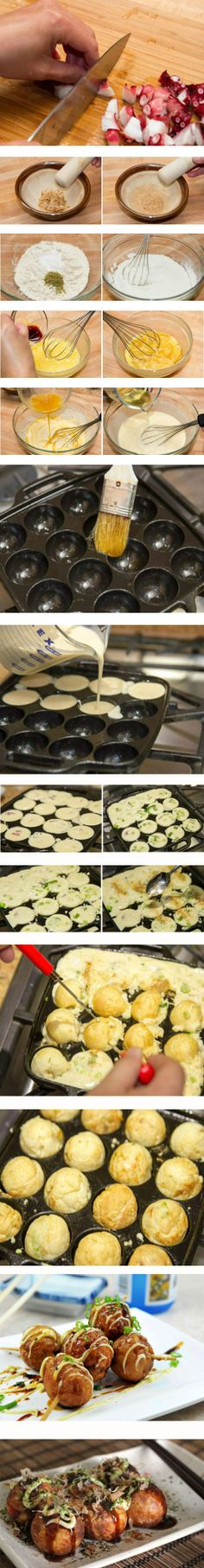 Takoyaki – Baked octopus dumplings-Japanese Food Recipes-My Cooking Chapter