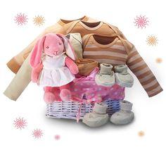 Organic! – Bunny Dreams Baby Gift Basket