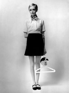 Twiggy (I pinned this because I remember the Twiggy Hangers, you could buy them in the late 60s early 70s ♥ Groovy)