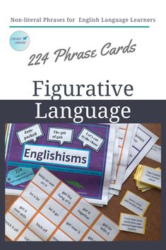 Expressions and figurative language can be quite the challenge for new English Language Learners and students with hearing loss.  These phrase cards are an instant download with wide range of uses during individual or whole class games. Teaching Vocabulary, Vocabulary Words, Receptive Language, Speech And Language, Verbal Communication Skills, English Language Learners, Language Arts, School Age Activities, Everyday English