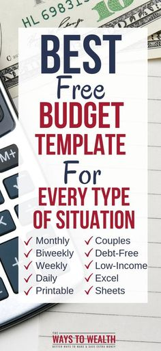 Use these free budget templates to help you track your finances. Choose from monthly, bi-weekly, weekly, or daily budgeting templates. Weekly Budget Template, Monthly Budget, Budget Templates, Sample Budget, Monthly Expenses, Planning Budget, Financial Planning, Financial Budget, Financial Assistance