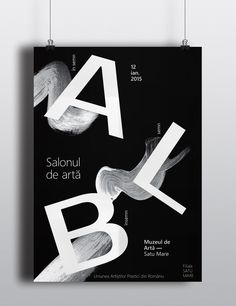 These works concept are based on white/black brushstrokes (emphasizing the art part of the exhibition) and typography which are highlighted by the opposite Casino Theme Parties, Casino Party, Party Themes, Poster Design, Graphic Design, Diy Party, Party Favors, Exhibition Poster, Cultural Events