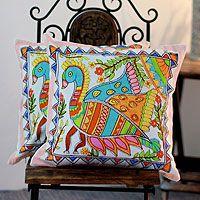 Madhubani Peacock from @NOVICA, They help #artisans succeed worldwide.