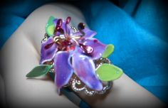 Ring made with wire nail polish and resin.