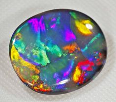 BRILLIANT BLOCKY PATTERN BLACK OPAL - 9.3 CTS #1/31