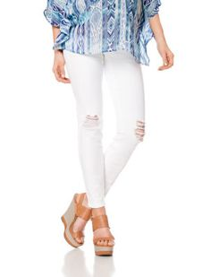 Wendy Bellissimo // Motherhood Maternity // Faux Pockets Skinny Leg Maternity Jeans