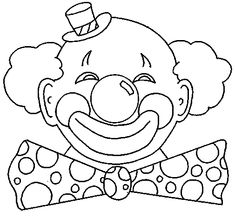 coloring page Carnival on Kids-n-Fun. At Kids-n-Fun you will always find the nicest coloring pages first! Clown Crafts, Carnival Crafts, Carnival Costumes, Cool Coloring Pages, Coloring Books, Circus Theme Classroom, Tiffany Stained Glass, Clown Faces, Send In The Clowns
