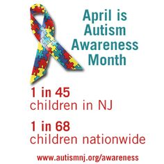 Know the numbers. 1 in 68 children are affected by autism nationally, and 1 in 45 in New Jersey. Help us raise awareness #AutismNJAmbassador