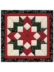 Christmas Starblock Quilt Kit...Its easy use foam board and punch knife. No sewing on this one <3