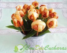 ConDosCucharas.com Pinchos de salmón y hojaldre - ConDosCucharas.com