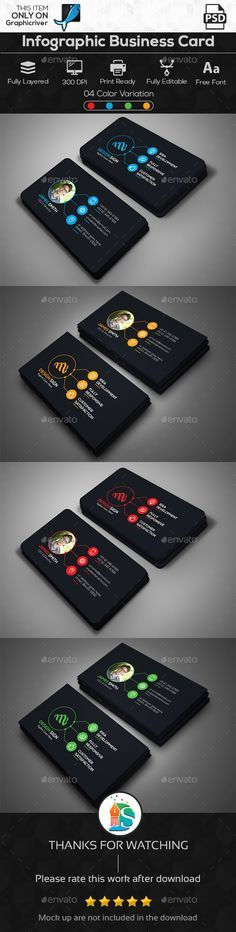 Infographic Business Card - Corporate Business Cards Download here : http://graphicriver.net/item/infographic-business-card/15773313?s_rank=289&ref=Al-fatih