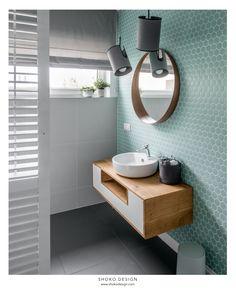 Tendencias losas y azulejos en baños y cocinas, cambian de forma y color - Decoración, DIY e ideas para decorar con vinilos Bad Inspiration, Bathroom Inspiration, Bathroom Inspo, Cool Bathroom Ideas, Bathroom Colours, Boho Bathroom, Interior Inspiration, Interior Color Schemes, Feature Tiles