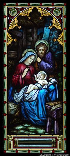 """""""Glory to God"""" Religious Stained Glass Window"""