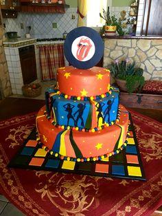 Torta compleanno anni 80 #fondant #cake #cakedesign