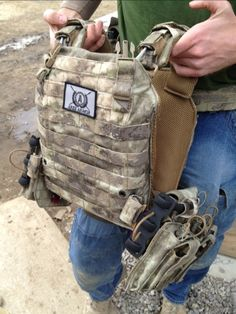 Ares Armor showed me a prototype of their Derma Plate Carrier