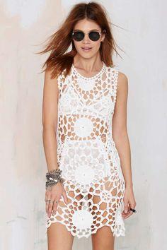 UNIF Fleur Crochet Dress - Day   Shift   LWD   Clothes   All   Unif   Cover Ups   Ménage au Mirage
