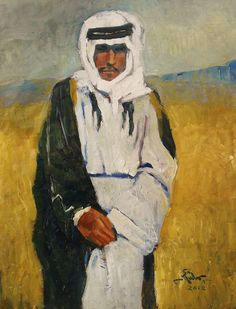 A young man from the Bedouin  33 x 25 cm oil colors 2012