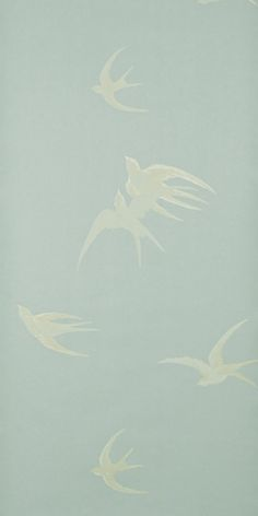 Swallows (W) by Sanderson Wallpapers | Wallpaper – FABRIC STUDIO STORE