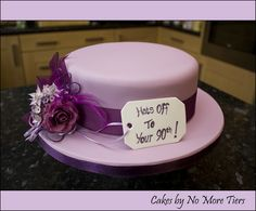 Hat cake for my Nana's 90th by Cakes by No More Tiers (York), via Flickr