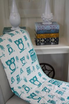 cute owl quilt. this etsy store has super cute linens.