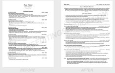 Resume sample before-after. We are here to help you on the road to success!