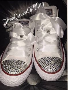 blinged out converse for wedding Rhinestone Converse 0a19d80e6c
