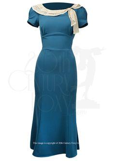1930s dress in teal blue £139.00 AT vintagedancer.com
