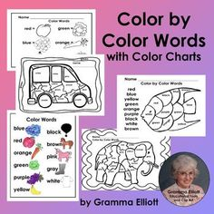Color by Color Words Printable worksheets for Kindergarten and First Grade First Grade Lessons, Reading Intervention, Special Education Teacher, Kindergarten Worksheets, Writing Skills, Student Learning, Struggling Readers, Word Work, Emergent Readers