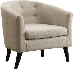 online shopping for Rosevera Alina Tufted Barrel Chair, Beige from top store. See new offer for Rosevera Alina Tufted Barrel Chair, Beige Armchairs And Accent Chairs, Occasional Chairs, Dining Chair Set, Sofa Set, Club Chairs, Room Chairs, Beige Living Room Furniture, Foldable Chairs, Mid Century Armchair