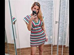 Vestido crochê colorido - Destro - Parte 2 - YouTube Vanessa Montoro, Crochet Summer Dresses, Ideias Fashion, Crochet Patterns, Bodycon Dress, Youtube, Left Handed, How To Make Clothes, Crochet Dresses