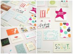 colorful business cards // awesome site, too!