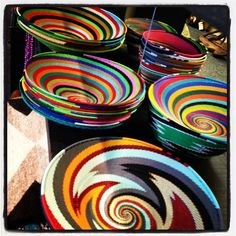 Colors of beaded bowls - South African Art