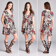 D5511 Loose fit short sleeves scoop v-neck swing dress. Has side seam pockets. This dress is made with heavyweight knit jersey with floral print that is soft drapes well and stretches very well.  #cherishusa #cherishapparel #shopcherish #springfashion #fashionbuyer #boutique #fashion #fashiondiaries #instafashion #instastyle #fashionstyle #ootd #fashionable #fashiongram #springstyles #clothingbrand #spring2016 #dress #scoopvneck #shortsleeve #sideseampocket  http://bit.ly/cherish-D5511