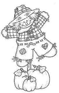 Scarecrow coloring page.
