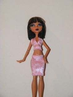 Monster High Fashion Pink Top and Skirt Outfit by rosdolls on Etsy, $6.00