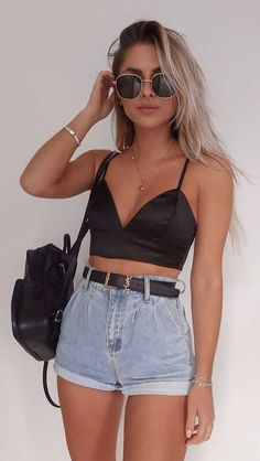 casual outfits for winter ; casual outfits for women ; casual outfits for work ; casual outfits for school ; Trend Fashion, Summer Fashion Outfits, Summer Outfits Women, Casual Summer Outfits, Look Fashion, Outfits For Teens, Womens Fashion, Autumn Outfits, Casual Winter