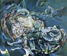 Oskar Kokoschka - The Bride of the Wind (The Tempest) (1914) (La sposa del vento, o La tempesta)