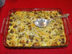 Sausage Hash Brown Casserole from Food.com: This is a favorite of ours now...easy and delicious. Not too hot not too mild...just right!