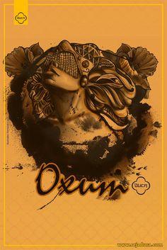 https://flic.kr/p/AwMMF7 | cartaz - Aquarelas de Oxum - low | Estampa feita no…