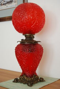 ANTIQUE GONE WITH THE WIND GWTW OIL KEROSENE OLD VICTORIAN GLASS BANQUET LAMP | eBay