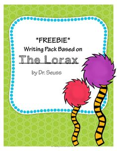 "From Read Across America Week to Earth Day, ""The Lorax"" is always a fun way to teach recycling and conservation! In this FREEBIE you will get:* 3 Writing Prompts: could be used for literacy stations or as class writing responses* 3 Final Copy Publishing Papers: black and white with cute decorations that can be colored by students when publishedPlease download the preview to see a few pages of the writing pack."