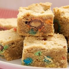 Peanut Butter Cookie Bars by bakeorbreak