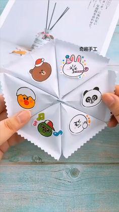 Cool Paper Crafts, Paper Crafts Origami, Origami Art, Cute Crafts, Easy Origami, Origami Videos, Diy Crafts Hacks, Diy Crafts For Gifts, Crafts For Kids