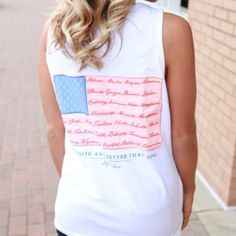 I just discovered this while shopping on Poshmark: NWT Lily Grace - American Flags Tank - LargeBoutique. Check it out!  Size: L