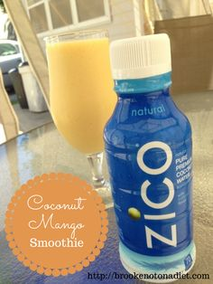Coconut Mango Smoothie w/ ZICO Premium Coconut Water