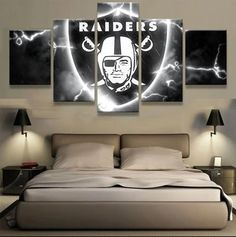 Oakland Raiders Wall Art Cheap For Living Room Wall Decor 4 Fan Shop Raiders Football Team, Oakland Raiders Football, Nfl Football, American Football, Pittsburgh Steelers, Dallas Cowboys, Raiders Players, Football Memes, Nfl Sports