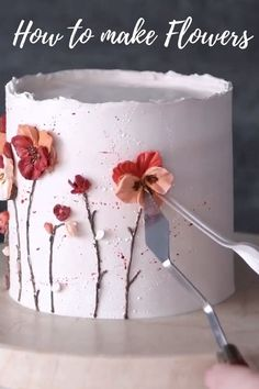 Icing Cake Design, Cake Icing Tips, Fondant Cake Designs, Cake Decorating Piping, Cake Decorating Designs, Creative Cake Decorating, Cake Decorating Supplies, Cake Decorating Techniques, Cake Decorating Tutorials